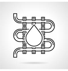 Black sketch icon for underfloor heating vector image vector image