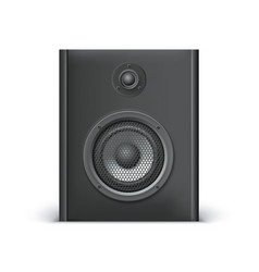 Black sound speaker vector image