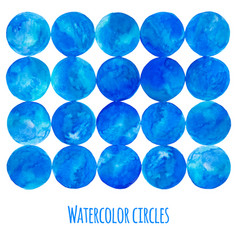 blue watercolor circle vector image