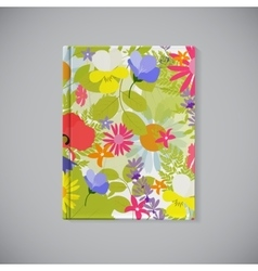 Book Cover Abstract Natural Spring Pattern with vector image vector image