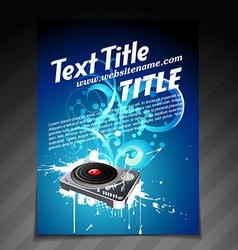 Creative party brochure design vector