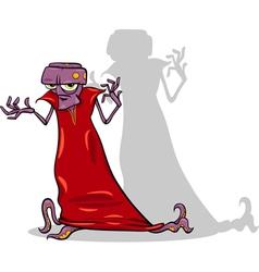 Evil alien cartoon character vector