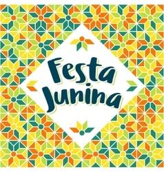 Festa Junina - Brazil Midsummer june fest vector image