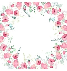 Floral abstract square template with stylized vector image vector image