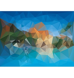 Geometric Fragments Background vector image vector image