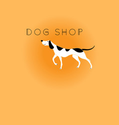 graphic icon dog vector image