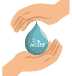 Hand prtotected save water symbol vector