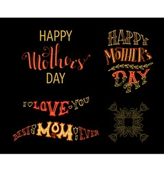 Happy Mothers Day Best Mom ever I love you vector image