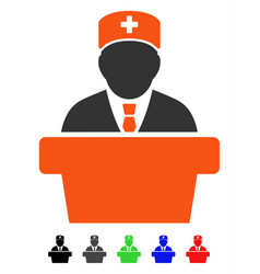 Health care official flat icon vector