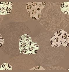 heart seamless pattern jaguar wallpaper vector image