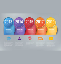infographics with 5 steps or options arrows vector image vector image