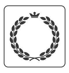 Laurel wreath icon crown flat vector