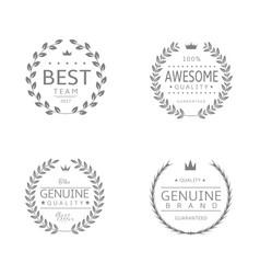 laurel wreath icons vector image vector image