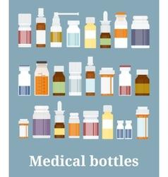Medicine bottles collection vector