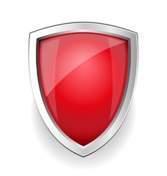 Red empty shield vector image