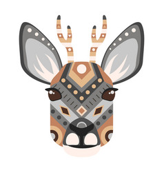 roe head logo deer decorative emblem vector image vector image