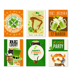 saint patricks day celebration banners set vector image vector image