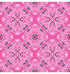 Seamless pattern pink flower design vector image vector image