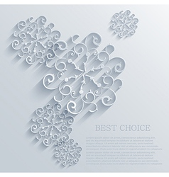 snowflakes background Eps10 vector image vector image