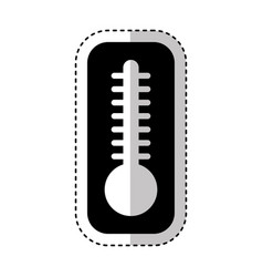 thermometer temperature isolated icon vector image vector image