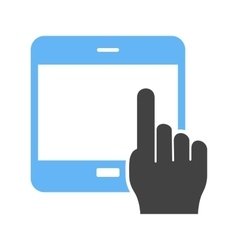 Using Touch Device vector image vector image