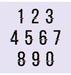 Frozen glitch screen distortion numbers vector