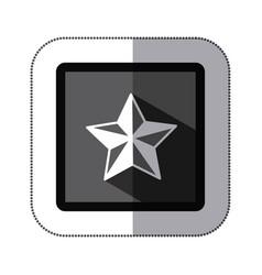 contour star icon image vector image