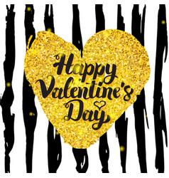 Valentines day handwritten card vector
