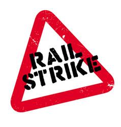 Rail strike rubber stamp vector