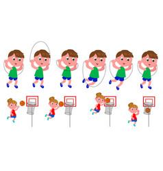 Children movement sequence vector
