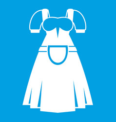 Traditional bavarian dress icon white vector