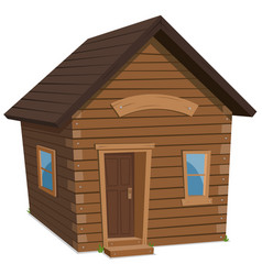 wood house lifestyle vector image