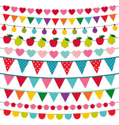 Birthday party decoration vector