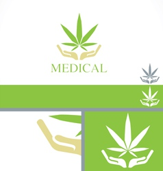 Medical Dispensary concept branding design templat vector image