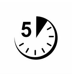 5 minutes icon simple style vector