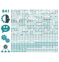 841 smile gear tool map markers mobile icons vector