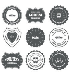 Public transport icons free bus bicycle signs vector