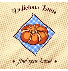 Bread on a napkin 12 vector