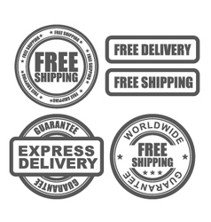 Express delivery and free worldwide shipping vector