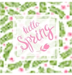 Spring blurred background whith lettering and vector