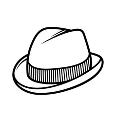 Mans trilby hat icon isolated on white background vector