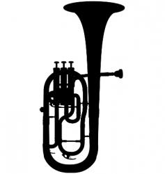 alto horn vector image vector image