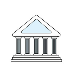 bank building symbol vector image