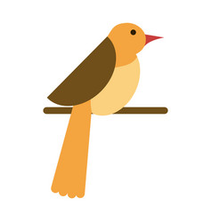 Bird on branch icon image vector