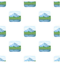 canadian waterfall canada single icon in cartoon vector image vector image