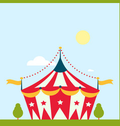 circus show entertainment tent marquee marquee vector image