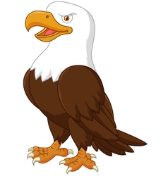 Cute eagle cartoon vector image vector image