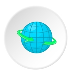 Earth icon cartoon style vector image