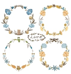 Fall Wreath Set vector image