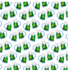 green beers glass st patrick day pattern vector image vector image